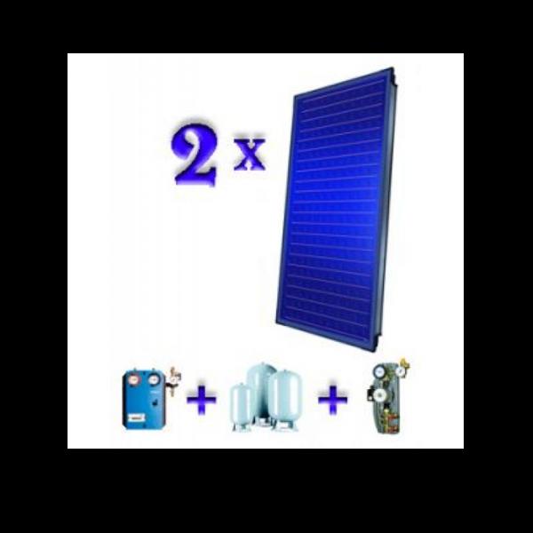 Pachet 2 panouri solare plane Buderus Logasol SKN 3.0