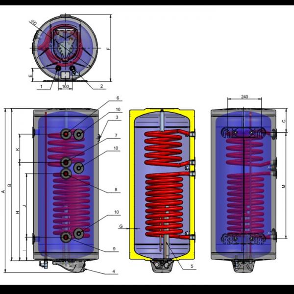 Boiler solar 150L 2S