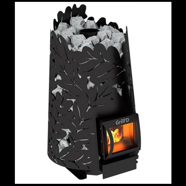 Sobă pentru saună Grill'D pe lemne Dubravo 180 Short black
